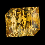 Citrine with concave facets